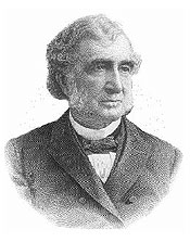 Etching of Justin Smith Morrill